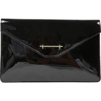 M2Malletier Black Patent leather Clutch Bag