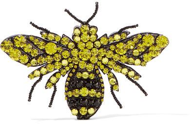 GucciGucci - Crystal, Bead And Plexiglas Brooch - Yellow