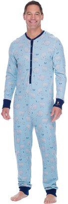 Munki Munki Men's Polar Bears Thermal Onesie PJ