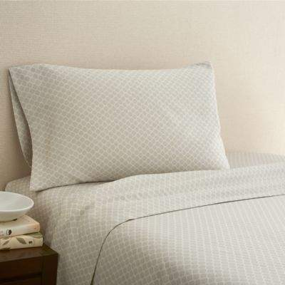 Hidden Retreat 300-Thread-Count Lake Rope Knot St Twin Sheet Set in Grey