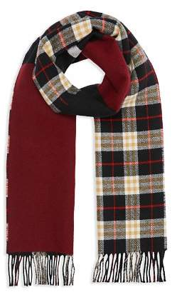 Burberry Stripe-Accented Color-Block Scarf
