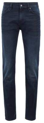 BOSS Slim-fit jeans in Italian blue-black denim