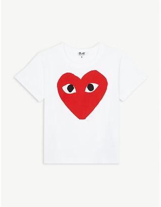 Comme des Garcons Large heart motif cotton T-shirt 2-6 years