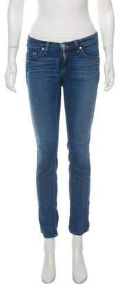 Rag & Bone Ruched Mid-Rise Jeans