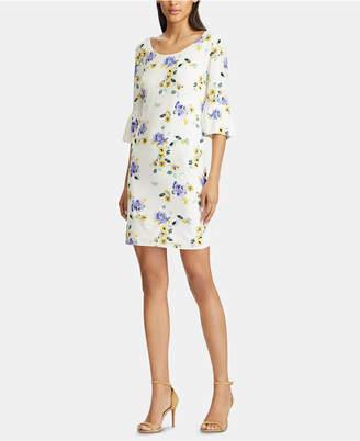 American Living Floral-Print Ruffle-Sleeve Jersey Dress
