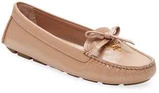 Prada Women's Leather Penny Loafers