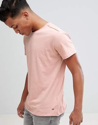 Solid Slub T-Shirt with Raw Edge