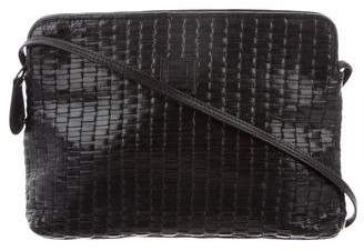 Fendi Woven-Leather Crossbody Bag