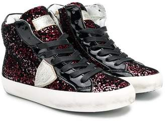 Philippe Model Kids zipped high-top sneakers