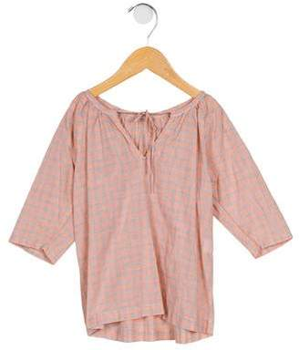 Makie Girls' Checked Long Sleeve Blouse
