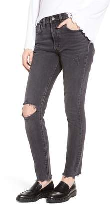 Levi's 501(R) High Waist Ripped Skinny Jeans
