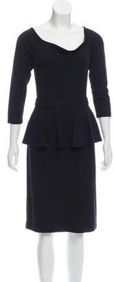 L'Agence Long Sleeve Knee-Length Dress