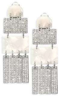 Lele Sadoughi Confetti Crystal Skyscraper Earrings