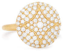 Jamie Wolf 18k Large Pave Aladdin Disc Ring
