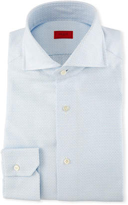 Isaia Textured Jacquard Dress Shirt