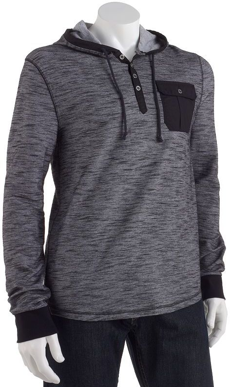 Rock & Republic Rock and republic abstract hooded henley