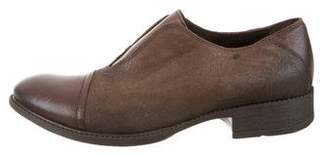 Barneys New York Barney's New York Leather Round-Toe Oxfords