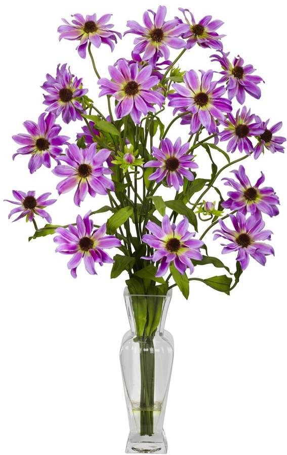 Nearly Natural nearly natural Liquid Illusion Silk Cosmos Floral Arrangement