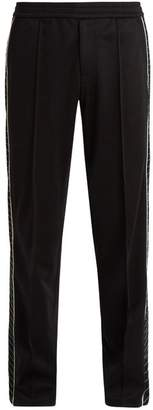 Valentino Embroidered Side Stripe Track Pants - Mens - Black
