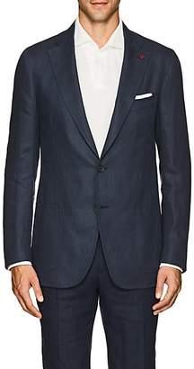 Isaia Men's Dustin Linen Two-Button Sportcoat - Navy
