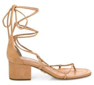 Michael Kors Ayers Suede Lace-Up Block Heel Sandals