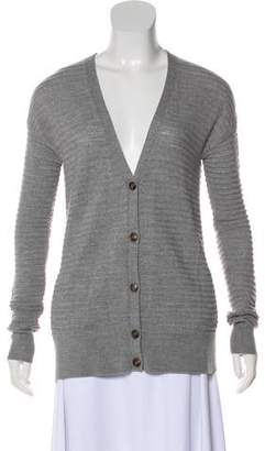 Halston Wool Button-Up Cardigan