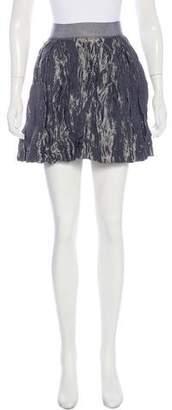 Nili Lotan Metallic Silk Mini Skirt
