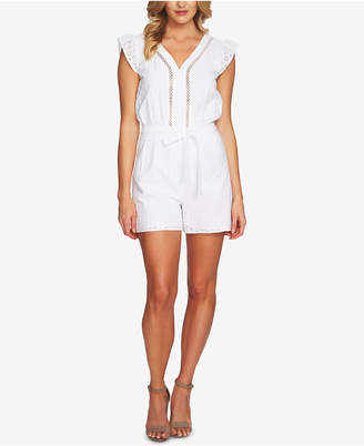 CeCe Cotton Eyelet Romper