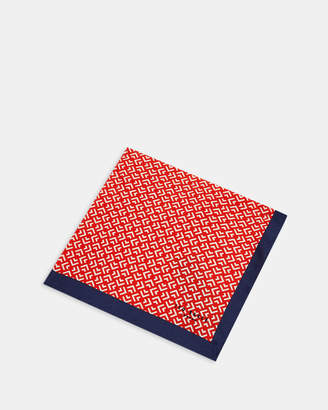 Ted Baker TAPE Geo print silk pocket square