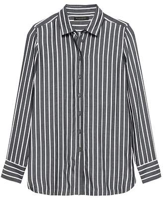 Banana Republic Parker Tunic-Fit Wide Stripe Shirt
