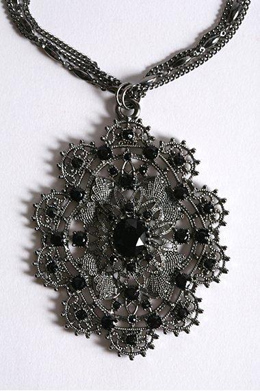 Large Filigree Charm Necklace