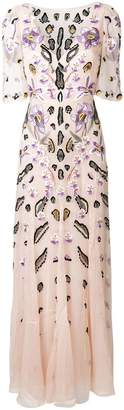 Temperley London embroidered floral dress