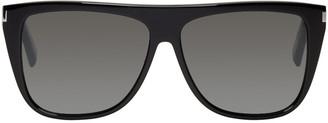 Saint Laurent Black SL 1 Bold Sunglasses $345 thestylecure.com