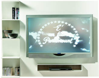 Cappellini Pacini e Ghost TV Wall Mount Unit - White Matt Shelf