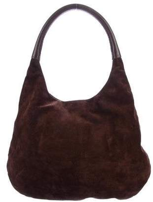 Devi Kroell Leather-Trimmed Suede Hobo