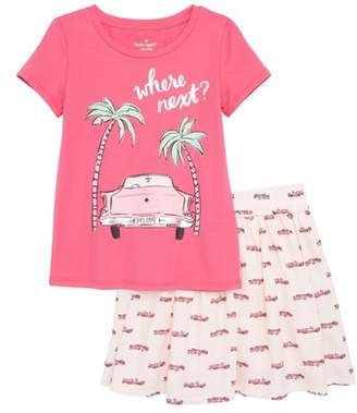 Kate Spade Where Next Top & Skirt Set