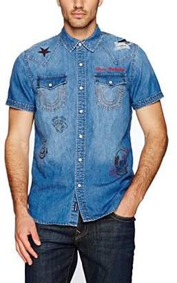 True Religion Men's Short Sleeve Western Shirt