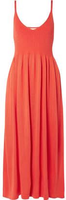Mara Hoffman Delilah Ribbed Modal Midi Dress - Bright orange