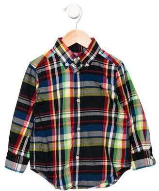 Ralph Lauren Boys' Patterned Button-Up Shirt