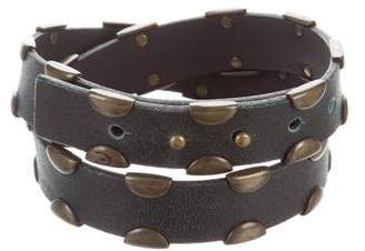 Just Cavalli Embellished Leather Belt