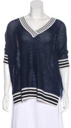 Minnie Rose Cashmere Open Knit Sweater