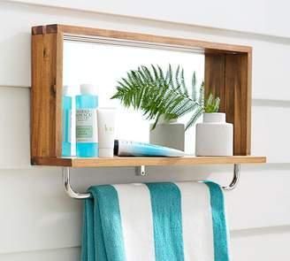 Pottery Barn Outdoor Shower Mirror Shelf