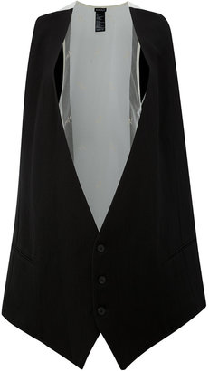 Ann Demeulemeester loose fit waistcoat $791.68 thestylecure.com