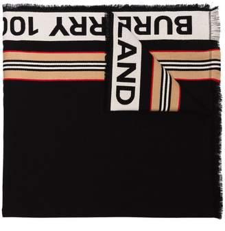 Burberry black 100% England cotton scarf