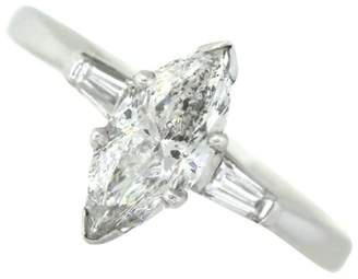 14K White Gold & 1.03ctw Marquise Diamond Engagement Ring