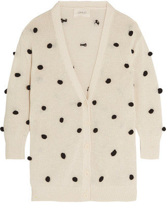 The Great - The Bobble Cotton Cardigan - Cream $365 thestylecure.com