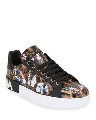 Dolce & Gabbana Leopard and Butterfly Sneakers