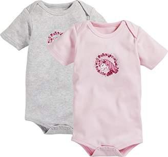 Playshoes Baby Kurzarm, 2er Pack Einhorn, Oeko-Tex Standard 100 Bodysuit,(Manufacturer Size: 86/92)