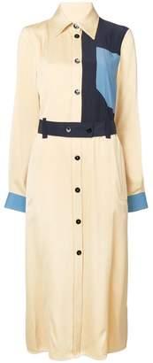 Victoria Beckham Victoria geometric long-sleeve shirt dress