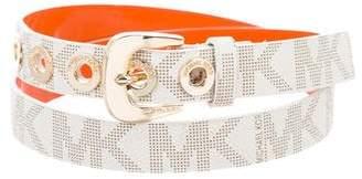 MICHAEL Michael Kors Monogram Leather Waist Belt